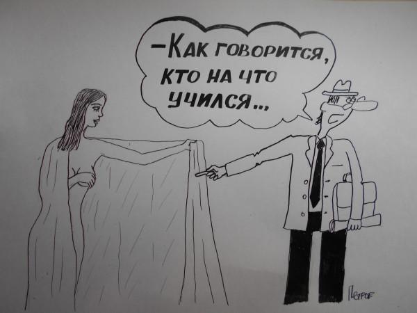 Карикатура: Женщина с покрывалом 48, Петров Александр
