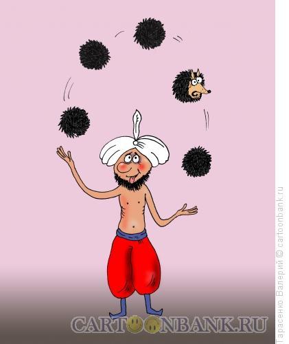 Карикатура: Факир в трансе, Тарасенко Валерий