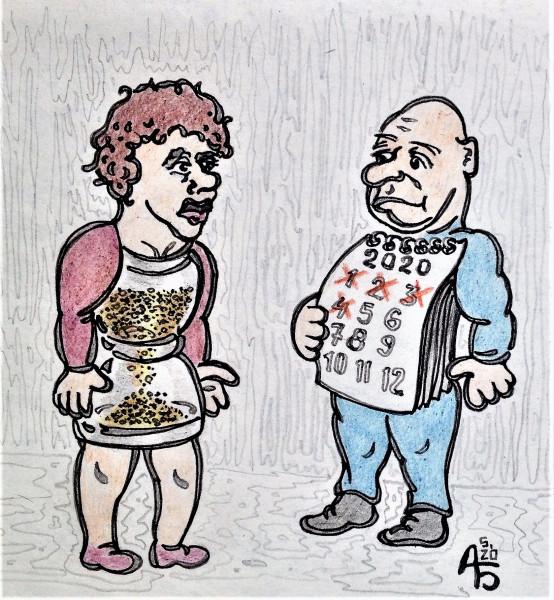 Карикатура: У каждого свой счёт, backdanov