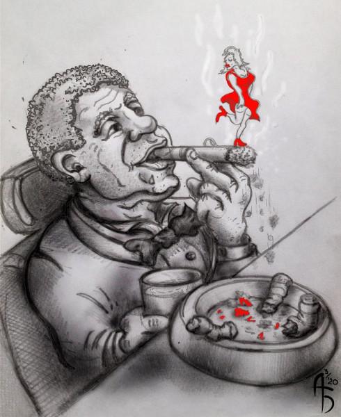 Карикатура: Бабник, backdanov