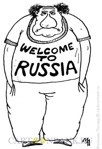 Карикатура: Добро пожаловать, Мельник Леонид