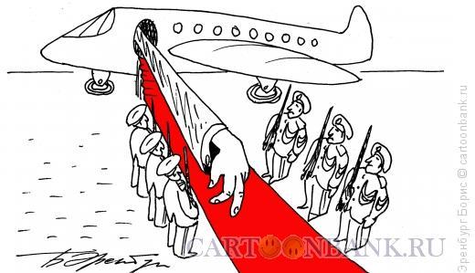 Карикатура: Визит, Эренбург Борис