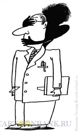 Карикатура: Тень на шее, Мельник Леонид