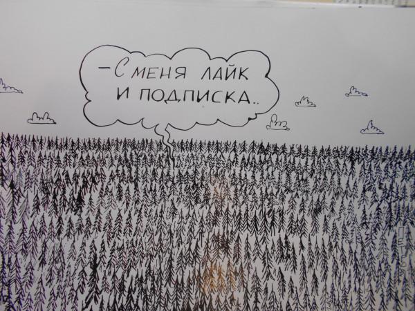 Карикатура: ЛАЙК И ПОДПИСКА, Петров Александр