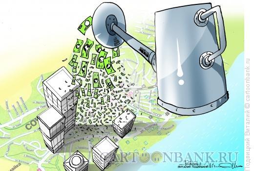 Карикатура: Денежный дождь, Подвицкий Виталий