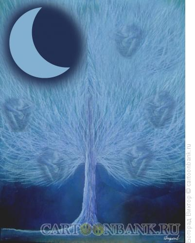 Карикатура: Дерево спящих, Богорад Виктор