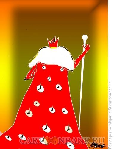 Карикатура: Король в горнастае из Кнопок, Бондаренко Марина