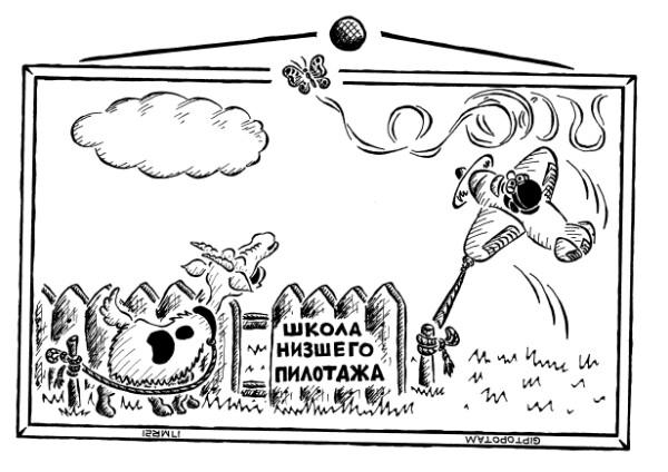 Карикатура: От ворот по...лувзлёт, Giptopotam