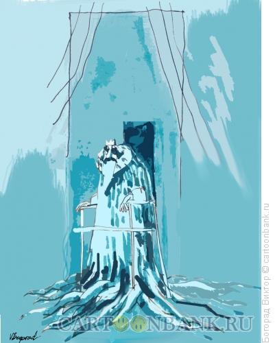 Карикатура: Старый король, Богорад Виктор