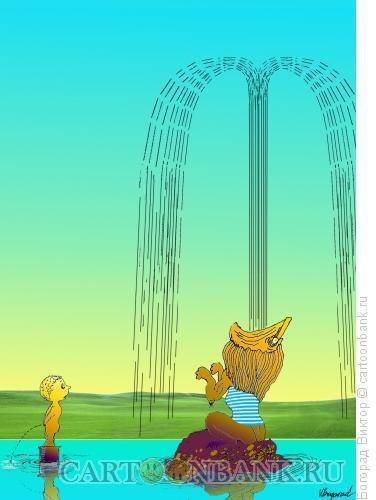 Карикатура: Самсон отлучился, Богорад Виктор
