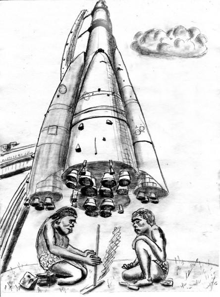 Карикатура: Палеолит, Юрий Жиловец