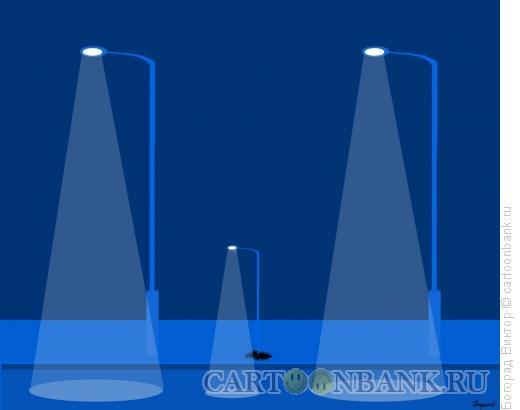 Карикатура: Семья фонарей, Богорад Виктор
