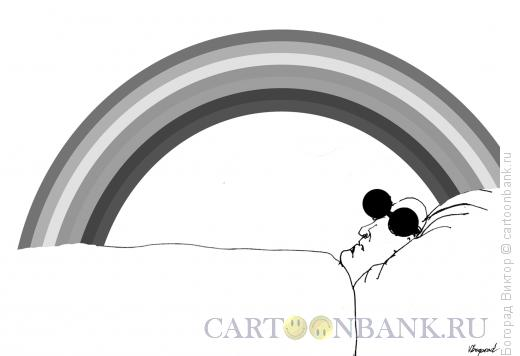 Карикатура: Цветной сон слепого, Богорад Виктор