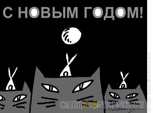 Карикатура: С Новым 2011 Годом, Эренбург Борис