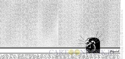 Карикатура: Будильник- мышка, Богорад Виктор