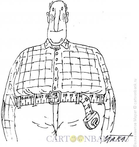 Карикатура: Толстяк, Валиахметов Марат