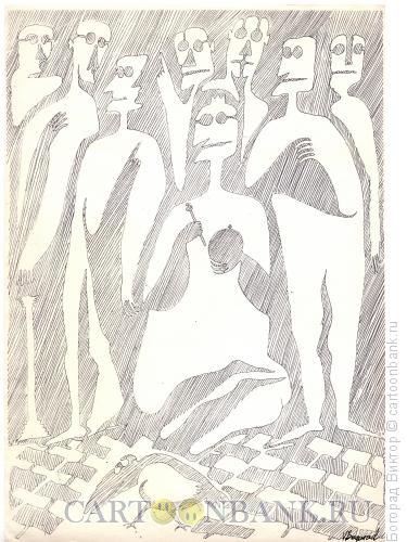 Карикатура: Ворона во дворце, Богорад Виктор