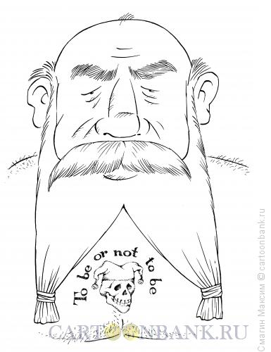 Карикатура: Старый театрал, Смагин Максим