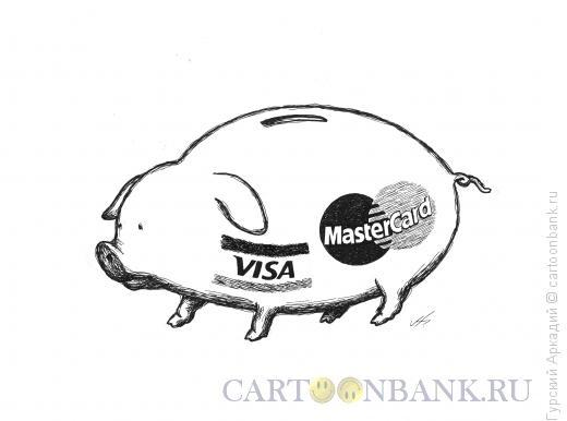 Карикатура: свинья копилка, Гурский Аркадий