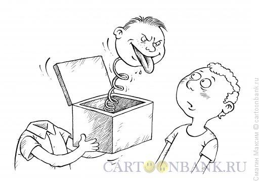 Карикатура: Черт из табакерки, Смагин Максим