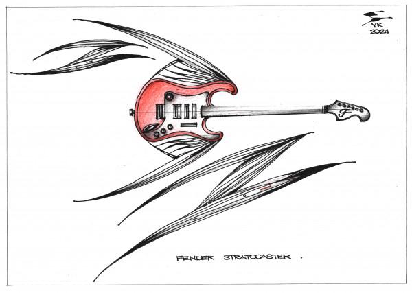 Карикатура: FENDER STRATOCASTER ., Юрий Косарев