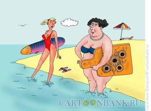 Карикатура: Пляж, Тарасенко Валерий