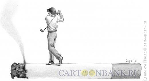 Карикатура: гольф и дым, Далпонте Паоло