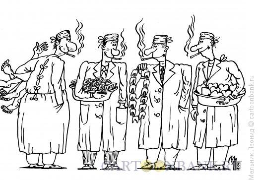 Карикатура: Трудовые будни, Мельник Леонид