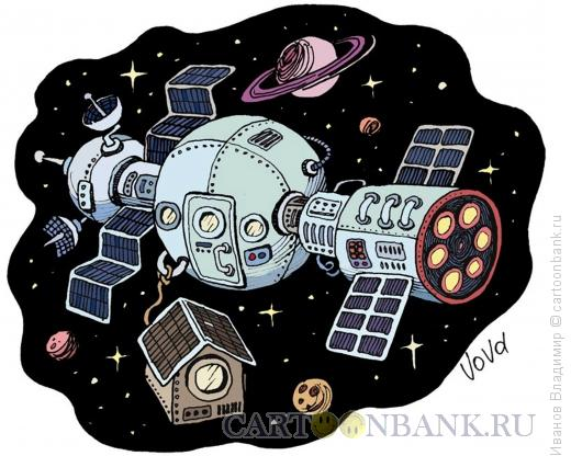 Карикатура: Космическая конура, Иванов Владимир