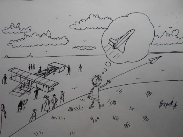 Карикатура: Гений