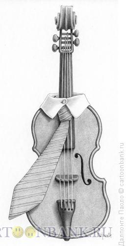 Карикатура: Элегантная скрипка, Далпонте Паоло
