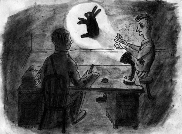 Карикатура: Допрос в НКВД, Юрий Жиловец