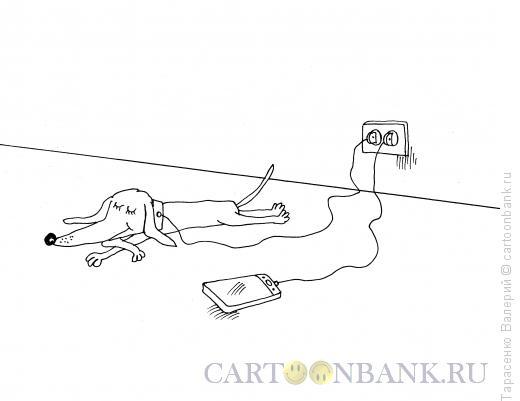Карикатура: Подзарядка, Тарасенко Валерий