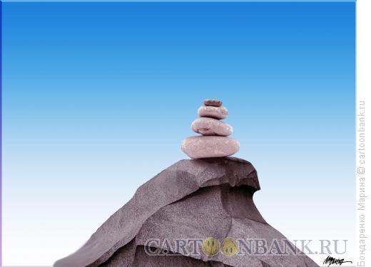Карикатура: Памятник Петру из камня, Бондаренко Марина