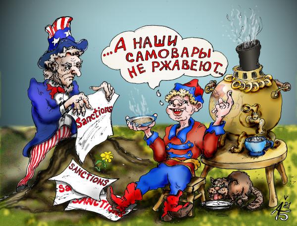 Карикатура: Забугорные угрозы, backdanov