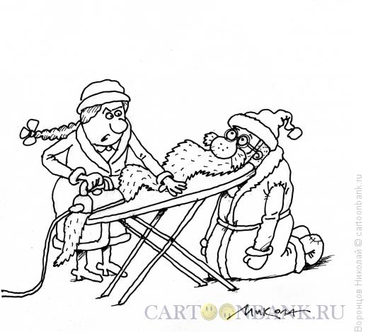 Карикатура: Гладильная доска, Воронцов Николай