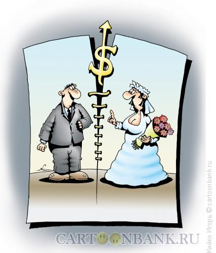Карикатура: Брачный контракт, Кийко Игорь