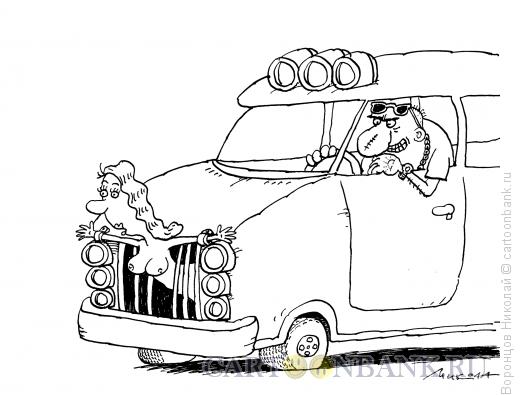 Карикатура: Водитель, Воронцов Николай