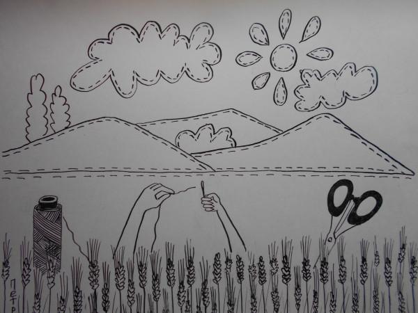 Карикатура: Нитка  иголка