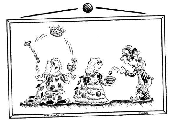 Карикатура: Мы бродячие артист...ократы, Giptopotam