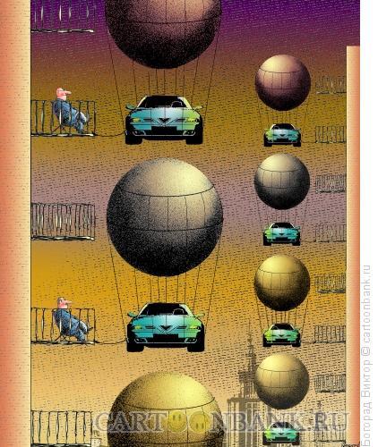 Карикатура: Решение проблемы парковки, Богорад Виктор