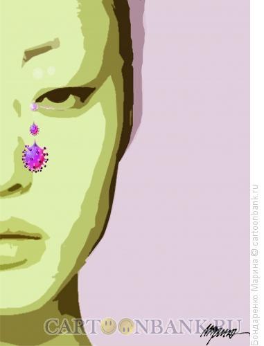 Карикатура: Китай Коронавирус, Бондаренко Марина