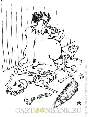 Карикатура: Петух-хищник, Черепанов Сергей