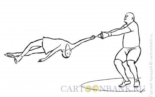 Карикатура: метатель молота, Гурский Аркадий