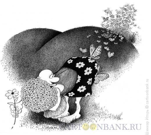 Карикатура: Букет для любимой, Шинкар Игорь