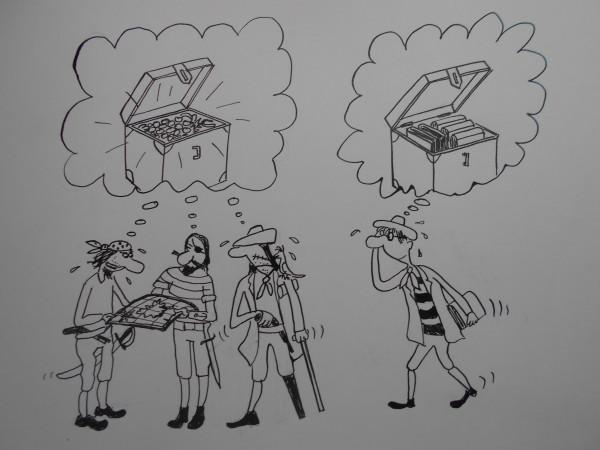 Карикатура: Пираты и ботаник, Петров Александр