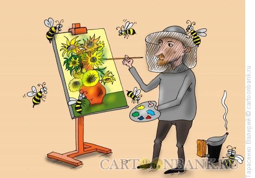 Карикатура: Подсолнухи, Тарасенко Валерий