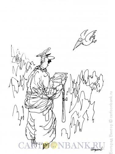 Карикатура: Поиск преступника, Богорад Виктор