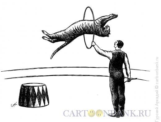 Карикатура: цирк, Гурский Аркадий