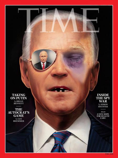 Мем: Обложка TIME Байден в очках